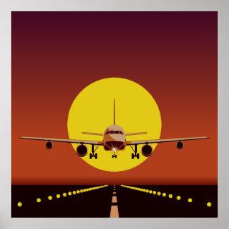 Ilustração do avião poster