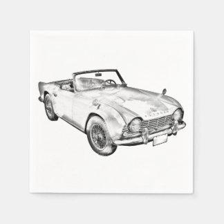 Ilustração do carro de esportes de Triumph Tr4 Guardanapo De Papel