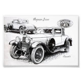 Ilustração do carro vintage impressão de foto