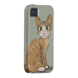Ilustração do gato de Brown Capas Para iPhone 4/4S