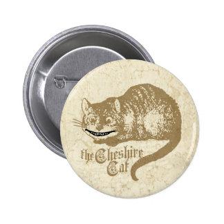Ilustração do gato de Cheshire do vintage Bóton Redondo 5.08cm