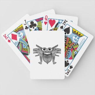 Ilustração do monstro da parte do corpo baralhos para pôquer