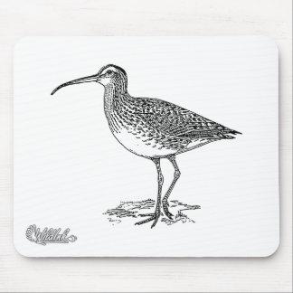 Ilustração do pássaro do maçarico real mouse pad