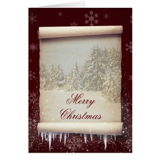 Ilustração do pergaminho do inverno - cartão