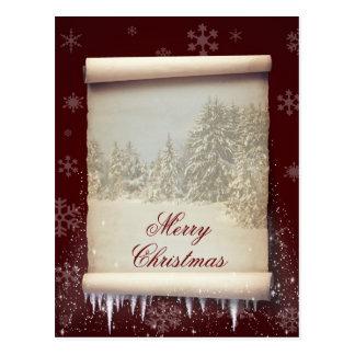 Ilustração do pergaminho do inverno - cartão cartoes postais