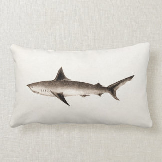 Ilustração do tubarão do vintage - modelo retro almofada lombar