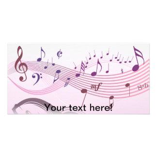 Ilustração do vetor de enrolar notas musicais cartão com foto