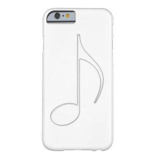 Ilustração do vidro da nota da música do tremor capa barely there para iPhone 6