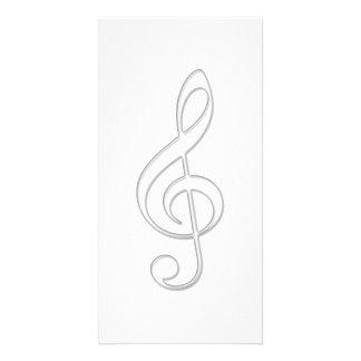 Ilustração do vidro do clef de triplo cartão com foto