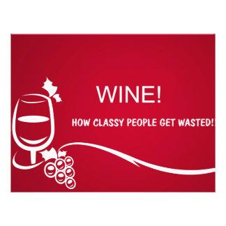 Ilustração do vinho panfleto