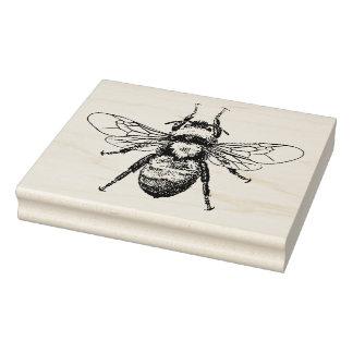 Ilustração do vintage da abelha carimbo de borracha