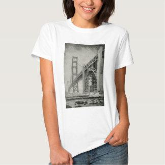 Ilustração do vintage de golden gate bridge tshirts