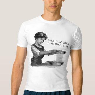 Ilustração do vintage de um cozimento da senhora camiseta
