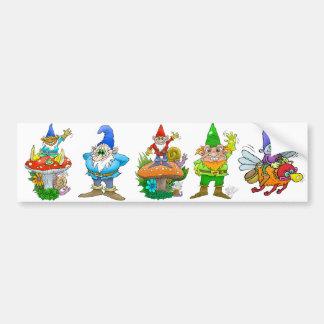 Ilustração dos desenhos animados de um gnome. de adesivo para carro