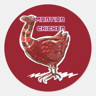 ilustração engraçada do estilo marciano dos adesivo redondo