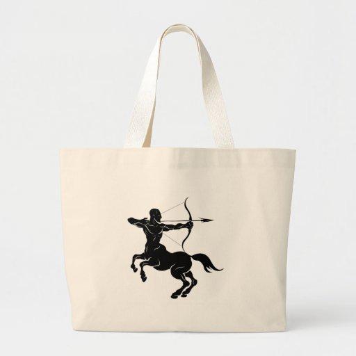 Ilustração estilizado do arqueiro do centauro bolsa