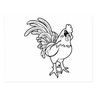Ilustração estilizado do galo cartoes postais