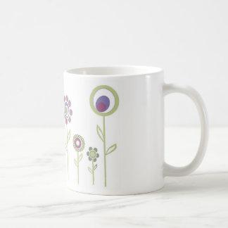 Ilustração floral caneca de café