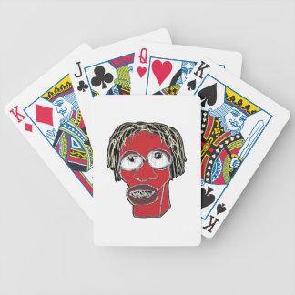 Ilustração grotesco da caricatura do homem jogo de baralho