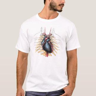 Ilustração humana da anatomia do coração camiseta