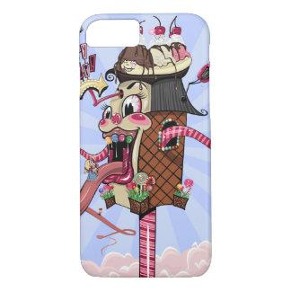 Ilustração louca da loja dos doces capa iPhone 7