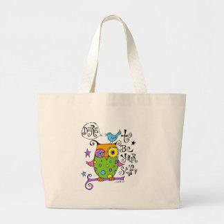 Ilustração lunática da coruja bolsa para compras