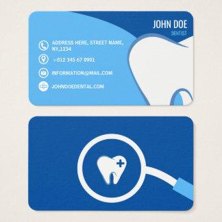 Ilustração médica da odontologia azul do cirurgião cartão de visitas