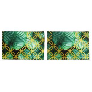 Ilustração moderna tropical geométrica das folhas