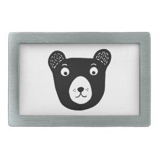 Ilustração preto e branco bonito do urso
