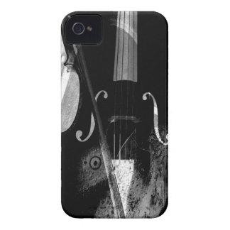 Ilustração preto e branco do violoncelo capas para iPhone 4 Case-Mate
