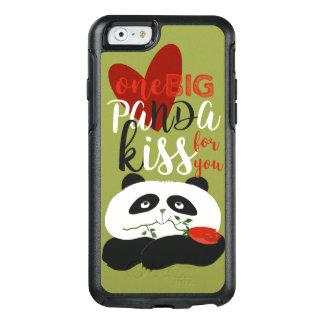 Ilustração romântica bonito do amor da panda