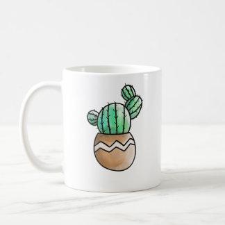 Ilustração rústica do pote bonito do Succulent Caneca De Café