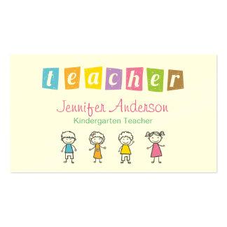 Ilustrações bonitos do lápis do professor cartão de visita