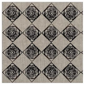 Ilustrações de pedra da tinta da ânsia da flor tecido