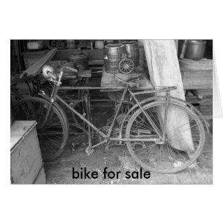IM001154, bicicleta para a venda Cartão Comemorativo