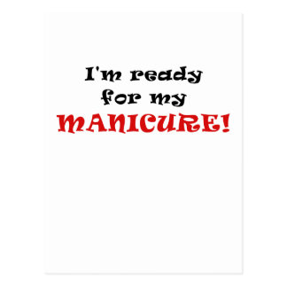 Im apronte para meu Manicure Cartão Postal
