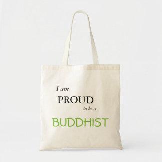 im orgulhoso ser um budista bolsa tote