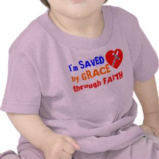 I'm SAVED by GRACE through FAITH - jesus Saves T-shirts