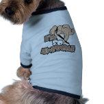 Im tão impressionante camisetas para cães
