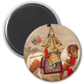 Imã 乾隆帝 do imperador do Qianlong de China na armadura