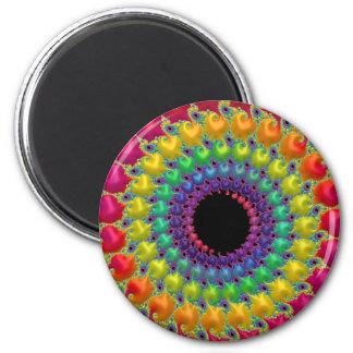 Imã 108-36 espiral do ponto do arco-íris