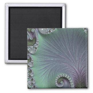 Imã 108-65 pétalas verdes & violetas