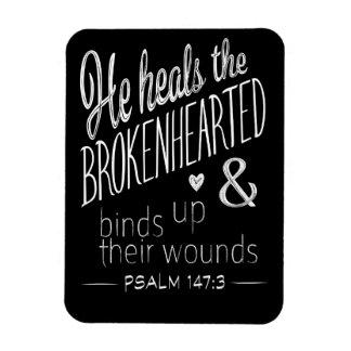 Ímã 147:3 do salmo cura o Brokenhearted