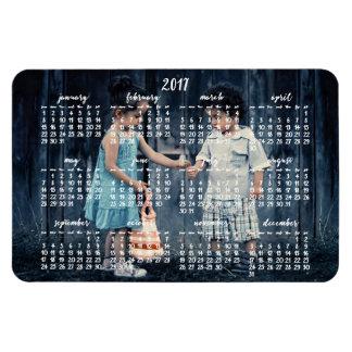 Ímã 2017 calendário magnético personalizado 4x6