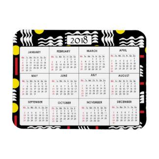 Ímã 2018 Squiggles do vermelho do preto do amarelo do