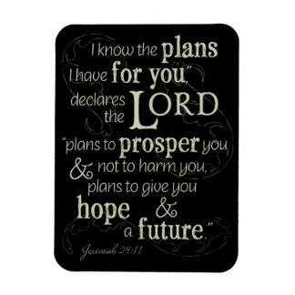 Ímã 29:11 de Jeremiah eu sei os planos que eu tenho