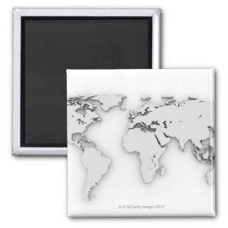 Imã 3D mapa do mundo, imagem gerada por computador
