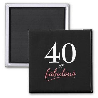 Imã 40 e ímã fabuloso do aniversário