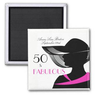 Imã 50 e aniversário elegante do art deco fabuloso