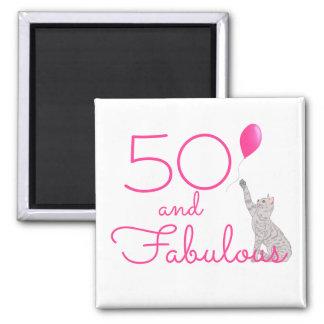 Imã 50 e aniversário fabuloso dos amantes do gato